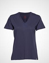 Mads Nørgaard Organic Favorite Trimmy V T-shirts & Tops Short-sleeved Blå MADS NØRGAARD