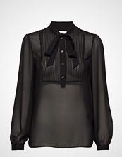 Calvin Klein Pintuck Bib Blouse L