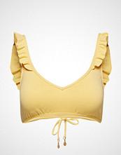 Polo Ralph Lauren Swimwear Modern Solids Ruffle Tie Back Bralette Pool,