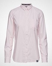 Superdry Oxford Stripe Shirt Langermet Skjorte Rosa SUPERDRY