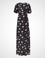 by Ti Mo Ruffle Wrap Gown