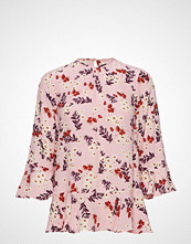 by Ti Mo Flared Top Bluse Kortermet Rosa BY TI MO