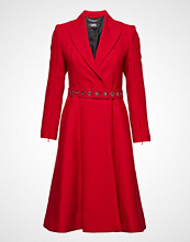 Karl Lagerfeld Tailored Feminine Coat W/ Belt