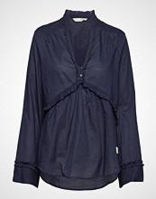Odd Molly Full Frill Blouse Bluse Langermet Blå ODD MOLLY