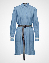 Karl Lagerfeld Shirt Dress W/Logo Belt