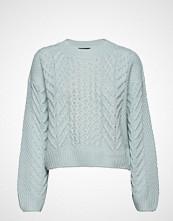Gina Tricot Elisa Knitted Sweater Strikket Genser Blå GINA TRICOT