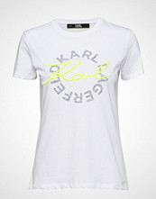 Karl Lagerfeld Neon Lights Dbl Logo T-Shirt