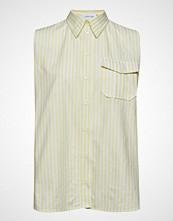 Calvin Klein Stp Police Pkt Shirt Ns Bluse Ermeløs Gul CALVIN KLEIN