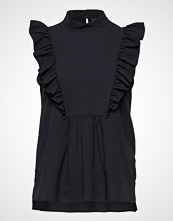 French Connection Crepe Light Solid Mock Neck Top