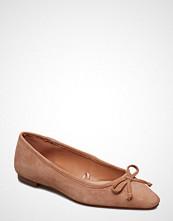 Mango Bow Leather Ballerina