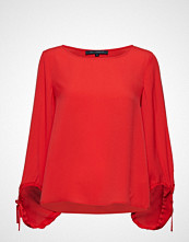 French Connection Crepe Light Solid Puff Sleeve Blouse