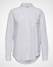 Calvin Klein Drapey Relaxed Shirt Langermet Skjorte Hvit CALVIN KLEIN JEANS