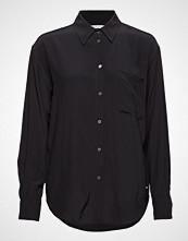 Calvin Klein Drapey Relaxed Shirt Langermet Skjorte Svart CALVIN KLEIN JEANS