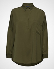French Connection Crepe Light Solid Pop Over Shirt