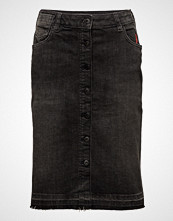 Scotch & Soda High Waist Skirt - Final Hour Knelangt Skjørt Svart SCOTCH & SODA