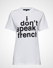 French Connection I Don'T Speak French Sslv Tee T-shirts & Tops Short-sleeved Hvit FRENCH CONNECTION