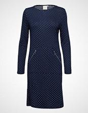 Brandtex Dress-Jersey Knelang Kjole Blå BRANDTEX