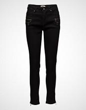 Imitz Capri Pants-Denim Skinny Jeans Svart IMITZ