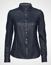 MDK / Munderingskompagniet Mathina Leather Shirt (Blue Night)