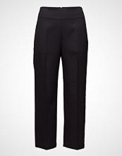 3.1 Phillip Lim Tailored Pant W Grosgrain Trim Bukser Med Rette Ben Svart 3.1 PHILLIP LIM