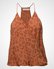 Rabens Saloner Bright Leopard Camisole Top T-shirts & Tops Sleeveless Oransje RABENS SAL R