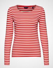 Gant 1x1 Rib Ls T-Shirt T-shirts & Tops Long-sleeved Rød GANT