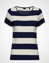 Gant O2. Barstriped Top T-shirts & Tops Short-sleeved Blå GANT