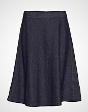 Marc O'Polo Skirt, Circle Skirt Silhouette, 2-N Knelangt Skjørt Blå MARC O'POLO