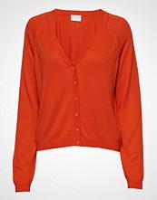 Vila Vilesly Knit Button L/S Cardigan/Tb Strikkegenser Cardigan Oransje VILA