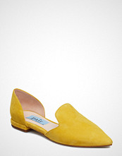 Apair Heel Cap Flat Pointed Open Side Ballerinasko Ballerinaer Gul APAIR