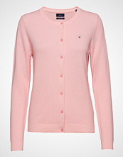 Gant Cotton Pique Cardigan Strikkegenser Cardigan Rosa GANT