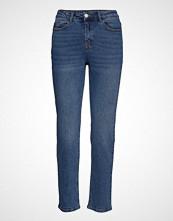 Vila Visommer Rw 7/8 Straight Jeans Skinny Jeans Blå VILA