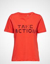 Minimum Kimma T-shirts & Tops Short-sleeved Oransje MINIMUM