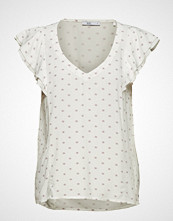 Edc by Esprit Blouses Woven T-shirts & Tops Short-sleeved Creme EDC BY ESPRIT