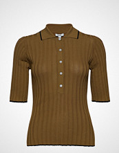 Dagmar Ella T-shirts & Tops Short-sleeved Brun DAGMAR