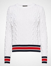 Banana Republic Varsity Trim Cable Crew