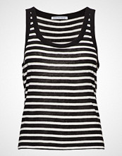 T by Alexander Wang Striped Slub Jersey Tank T-shirts & Tops Sleeveless Svart T BY ALEXANDER WANG