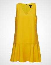 Banana Republic Sl Solid V-Neck Flounce Shift Dress