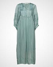 Rabens Saloner Lurex Stripe Ls Long Dress