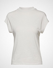 Mango Ribbed Neck T-Shirt