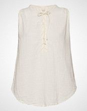 Rabens Saloner Lace Up Top