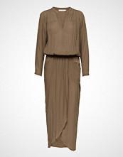 Rabens Saloner Crinkle Wrap Over Dress L/S
