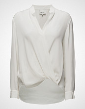 3.1 Phillip Lim Long Sleeved Collarless Soft Draped Sleeved Blouse