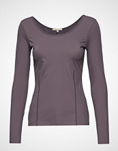 Filippa K Soft Sport Double-Scoop Top T-shirts & Tops Long-sleeved Svart FILIPPA K SOFT SPORT