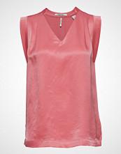 Scotch & Soda Pleated Sleeveless Top In Viscose Quality Bluse Ermeløs Rosa SCOTCH & SODA