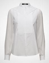 Karl Lagerfeld Karl Lagerfeld-Poplin & Ggt Pleated Bib Shirt