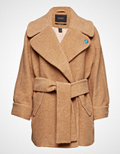 Scotch & Soda Relaxed Fit Wool Coat With Fabric Belt