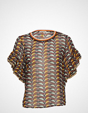 Scotch & Soda Mixed Print Top With Ruffled Sleeve