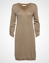 Cream Serena Knit Dress - Overknee 3/4 Sl