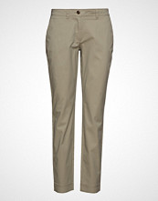 Marc O'Polo Pants, Slim Fit Chino, Topstitching Stramme Bukser Stoffbukser Beige MARC O'POLO